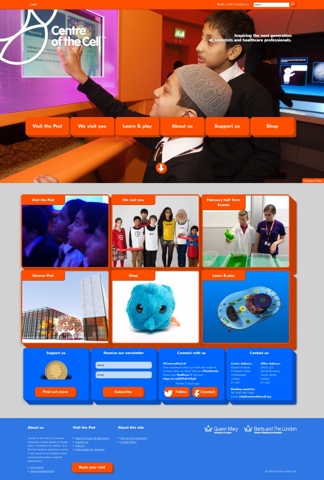 Centre of the Cell website home page