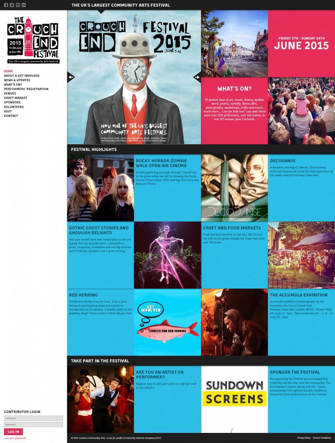 Crouch End Festival website home page