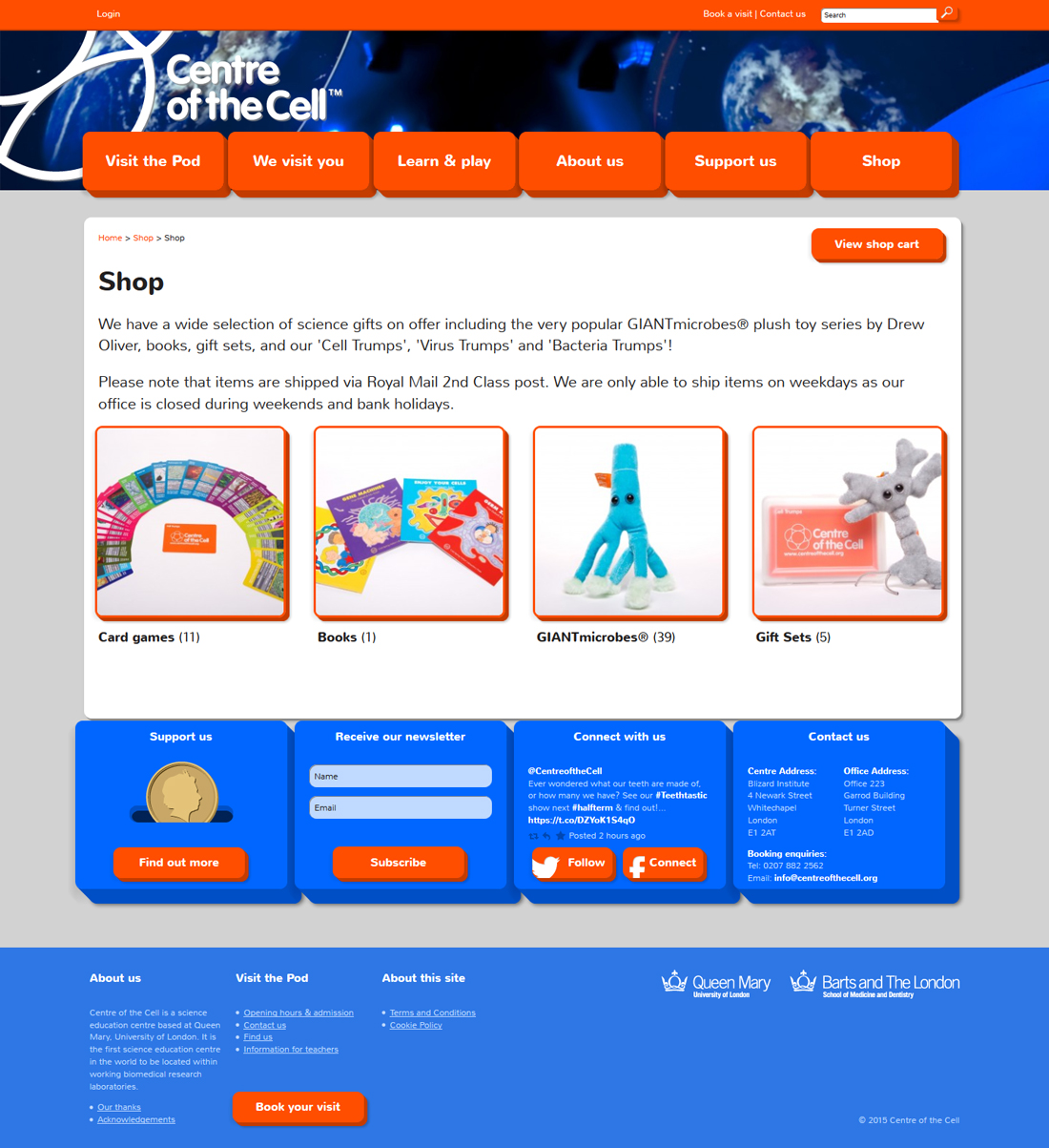 Centre of the Cell website shop