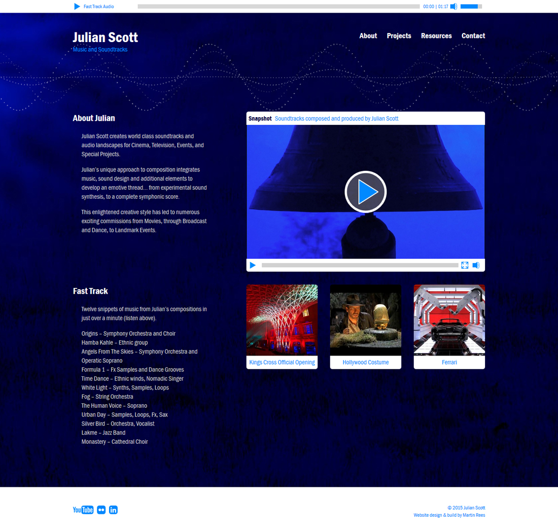 Julian Scott website home page