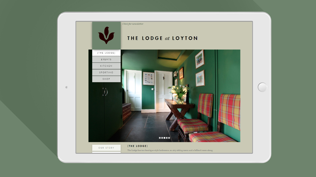 Loyton website on iPad