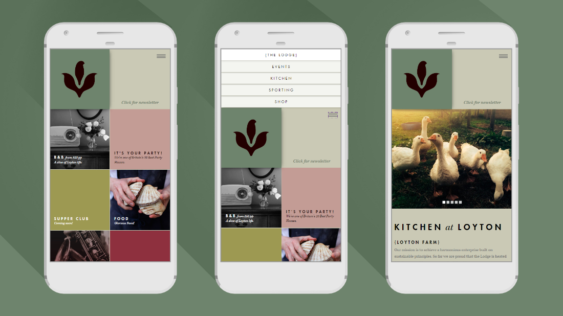 Loyton website on mobile
